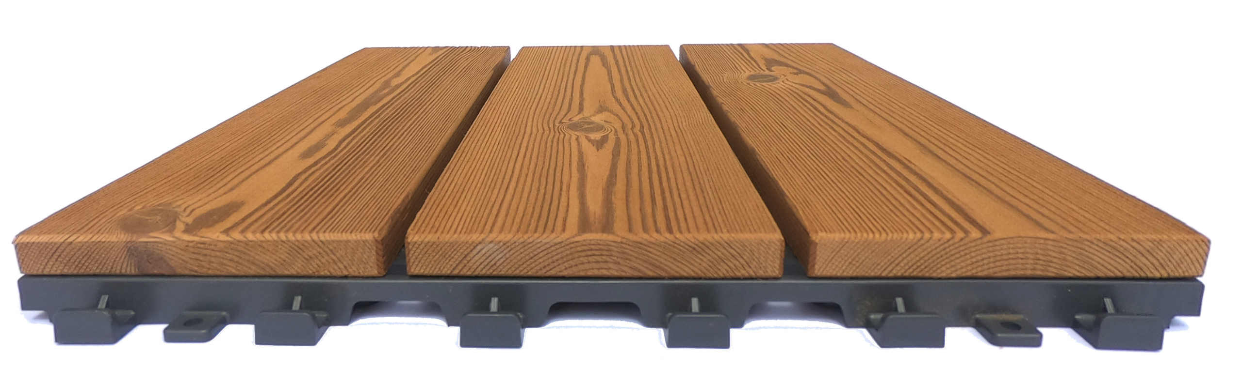 Smartdeck modular tile for outdoor flooring in thermowood pine 3