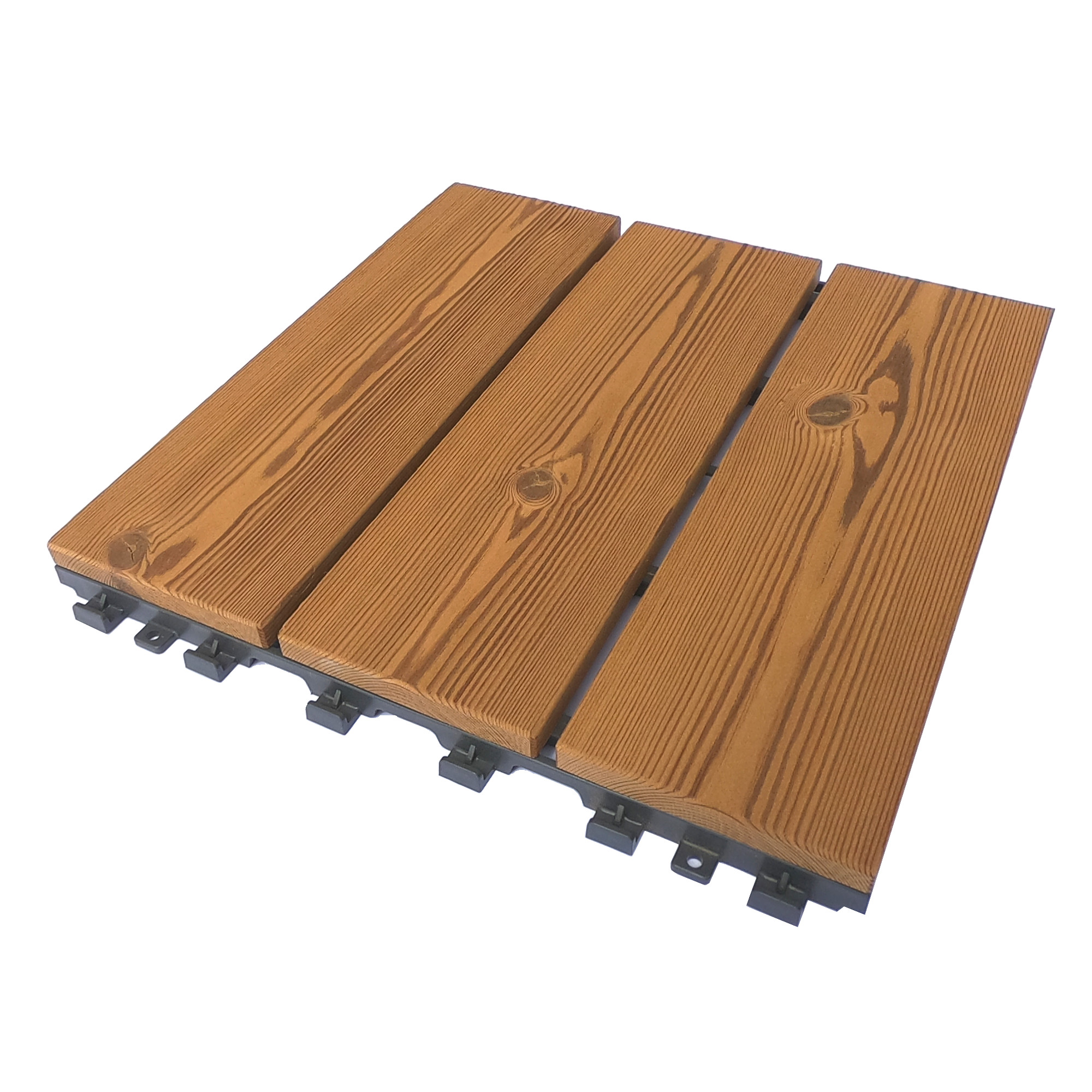 Smartdeck modular tile in thermowood pine