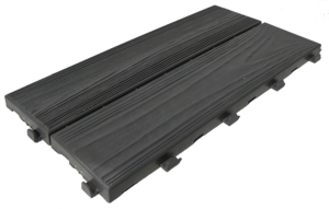 Easywood modular recycled plastic tile with wood effect anthracite