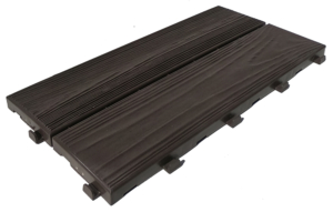 Easywood modular recycled plastic tile with wood effect coffee