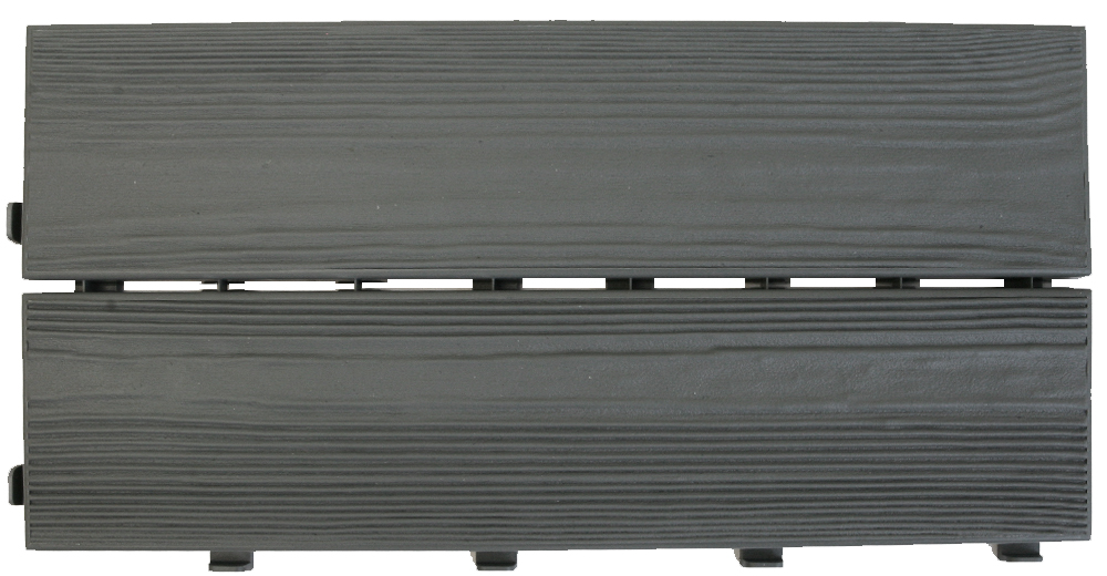 Easywood piastrella in plastica riciclata per esterni finto legno