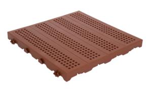 PIASTRELLA ONEK 40x40 forata mattone
