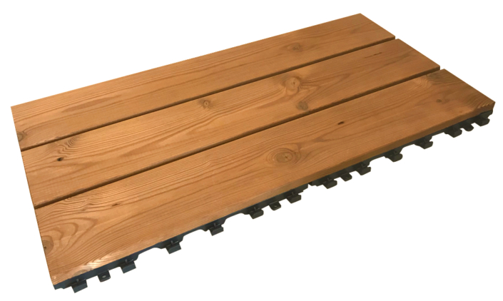 Smartdeck 30x60 modular tile for outdoor flooring in thermowood pine 1